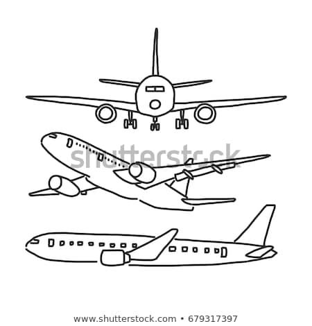 vervoer · schets · doodle · print - stockfoto © rastudio