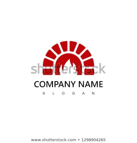 Fireplace from Stone, Brick and Wooden Vector Stock photo © robuart