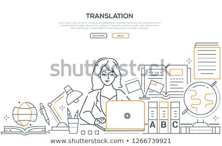Übersetzung modernen line Design Stil Web Stock foto © Decorwithme