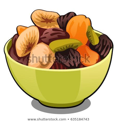 сушат фрукты изолированный белый вектора Cartoon Сток-фото © Lady-Luck