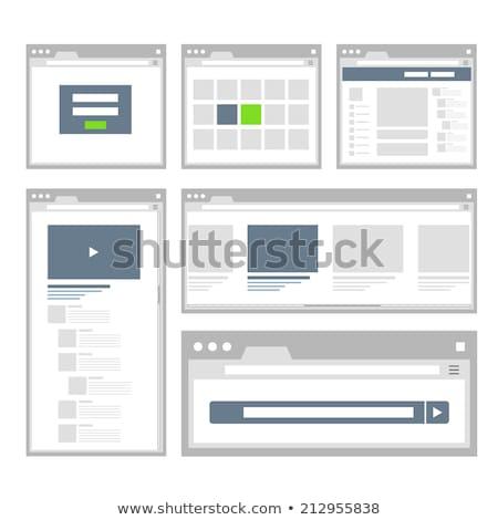 Internet fórum fejléc szalag tabletta felhasználók Stock fotó © RAStudio