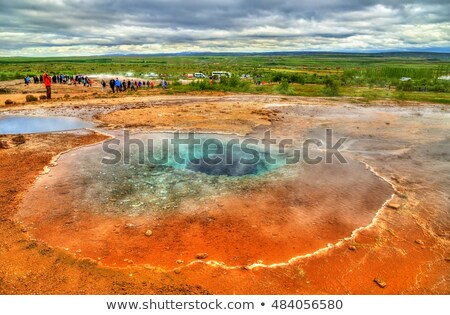 Blue lake in the valley of geysers, Iceland Stock photo © Kotenko