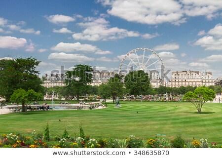 estátua · jardim · clarabóia · Paris · França - foto stock © doomko