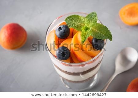 ストックフォト: チョコレート · ヨーグルト · メイプル · シロップ · オレンジ果実 · ボウル
