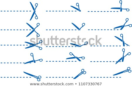 Blauw schaar illustratie ingesteld lijn Stockfoto © Blue_daemon