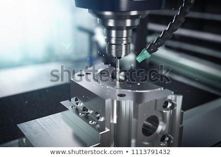 Gép vág fém modern technológia kicsi Stock fotó © cookelma