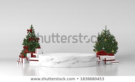 Henger fehér ajándékdobozok vörös szalag 3D 3d render Stock fotó © djmilic