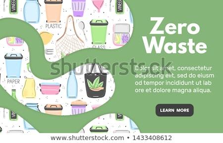 Zero desperdiçar objetos estilo eco Foto stock © user_10144511