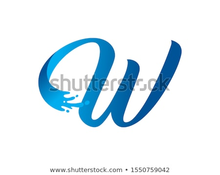 A letter W for wave Stock photo © colematt