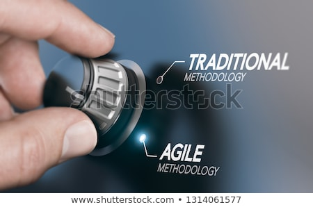 Agile Methodology Versus Waterfall. Stock photo © olivier_le_moal
