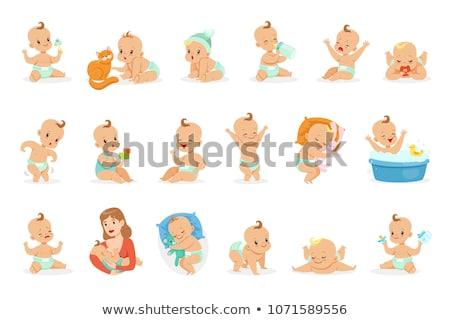 vector set of diaper Stock fotó © olllikeballoon