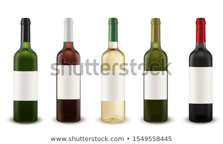 Realistic Glass With White Wine Riesling Vector Stockfoto © pikepicture