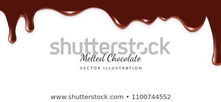 チョコレート デザイン 暗い 白 パターン ストックフォト © ElenaShow