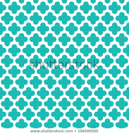 Quatrefoil green seamless vector pattern. stock photo © yopixart