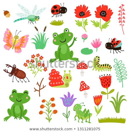A cute caterpillar character Stock photo © bluering