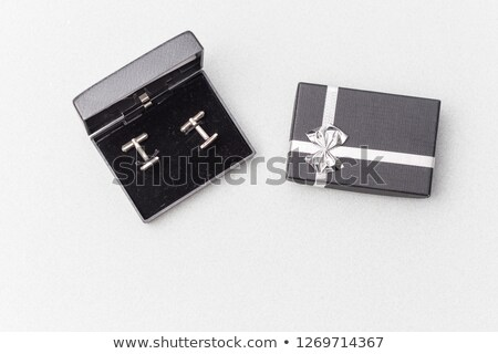Tie with cuff links and gift box Stock photo © Melnyk