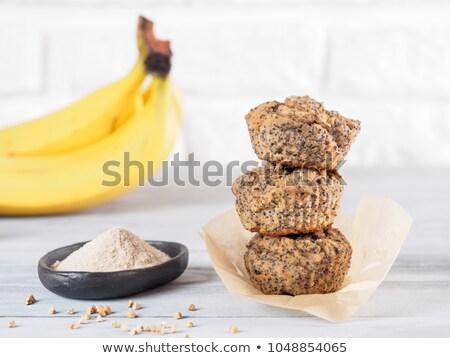 Casero sin gluten harina aumentó placa Foto stock © Melnyk