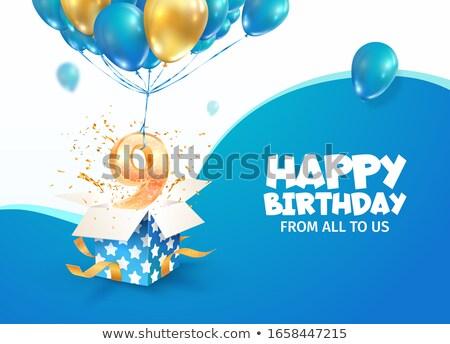 évforduló születés ünneplés szám vektor képeslap Stock fotó © pikepicture