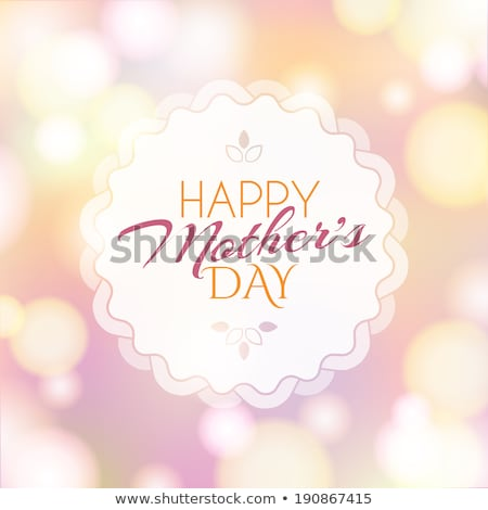 Stock photo: Fashionable Mother Day Greeting Postcard Vector