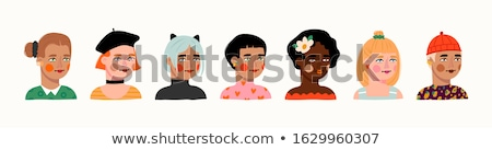 Stock photo: Set avatars women of different nationalities with various colors
