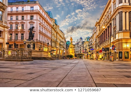 Utca Bécs centrum este város utazás Stock fotó © borisb17