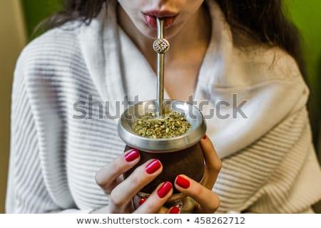 Mate tea in calabash Stock photo © grafvision