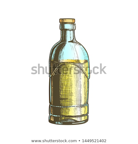 Stock photo: Closed Standard Drink Tequila Glass Bottle Vector