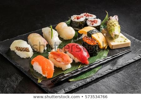 Sushi conjunto prato comida mar Foto stock © OleksandrO