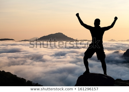 男 先頭 岩 コルシカ島 フランス 小さな ストックフォト © nito