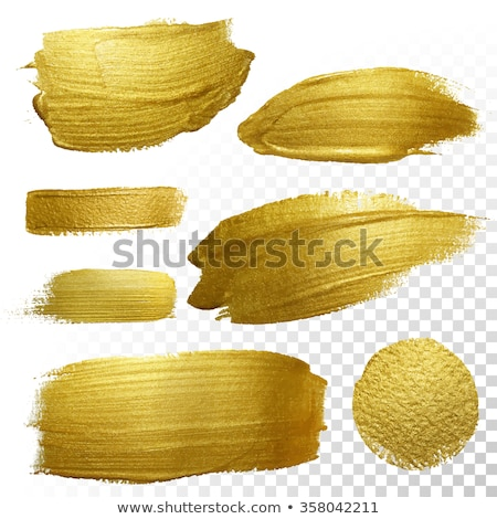 Coloured Watercolor Background. Yellow and gold brush strokes Stock photo © Natalia_1947