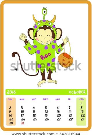 Stockfoto: Cartoon · cute · gelukkig · halloween · illustratie