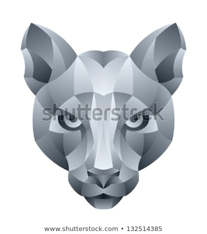 Panther Angry Head Mosaic Black and White Stock photo © patrimonio