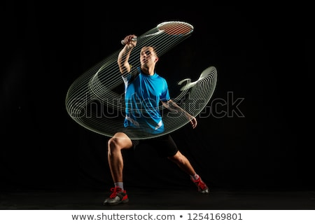 Badminton Players Men with Rackets Playing Game Stock photo © robuart