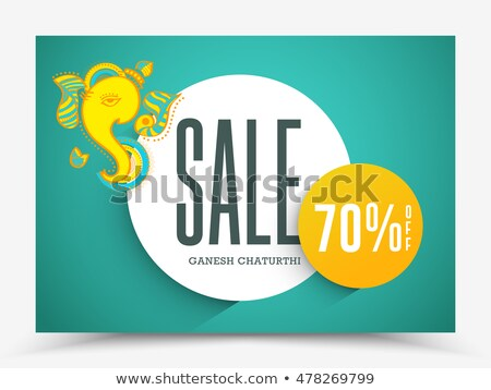 big ganesh chaturthi festival sale banner design stock photo © sarts