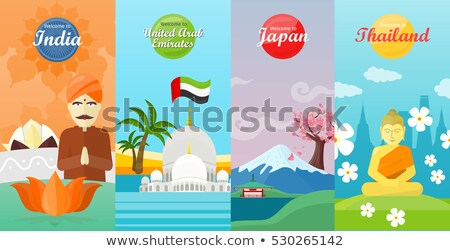Set of Asia and Thailand Flat Vector Web Banners Stock photo © robuart