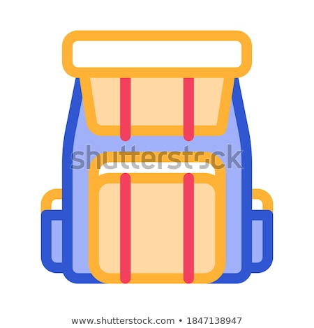 backpack knapsack alpinism equipment vector icon stock photo © pikepicture