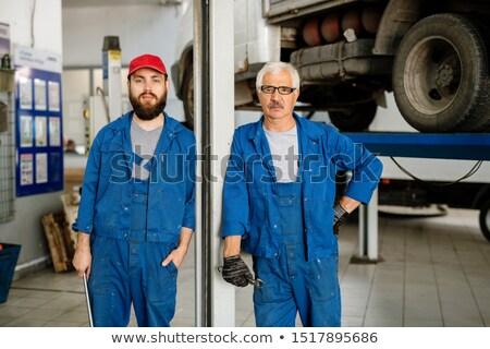 Jonge bebaarde werknemer technische meester werkkleding Stockfoto © pressmaster