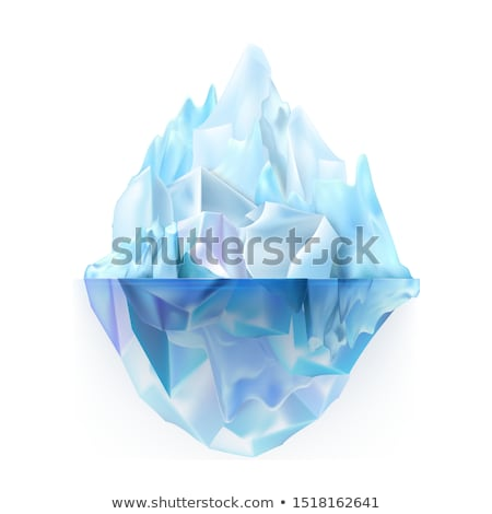 Glacier Icy Rock Floating On Water Waves Vector Stock photo © pikepicture