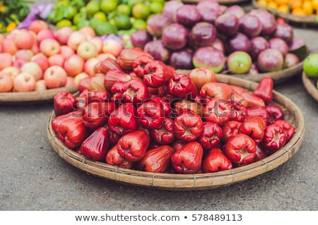 Rood rose appels appel wax roze berg Stockfoto © galitskaya