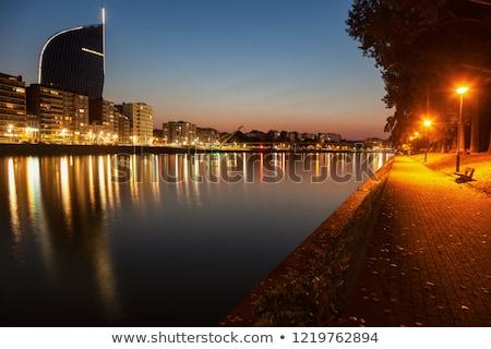 Panorama of Liege along Meuse River Stock photo © benkrut