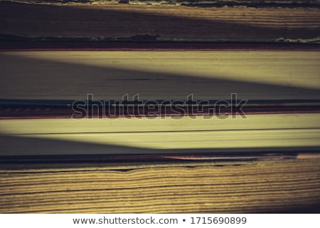 A few old books on wooden table in antique bookstore Stock photo © przemekklos