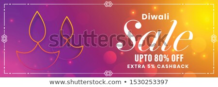 happy diwali wishes vibrant festival banner design Stock photo © SArts