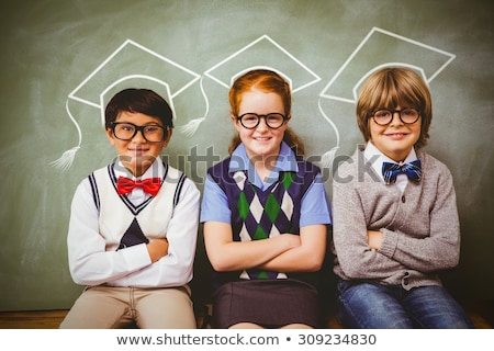 Front widoku uczeń patrząc kamery klasie Zdjęcia stock © wavebreak_media