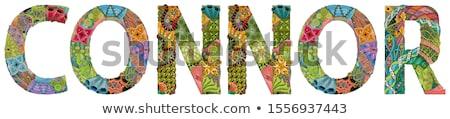 Male name CONNOR. Vector decorative zentangle object Stock photo © Natalia_1947
