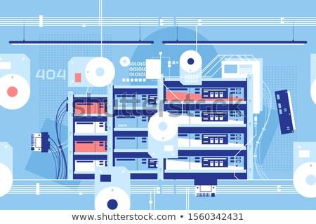 serveur · chambre · hébergement · nuage · base · de · données - photo stock © jossdiim