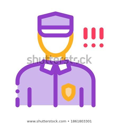 Rendőr irányítás biztonság ikon vektor skicc Stock fotó © pikepicture