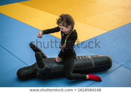 Derűs atléta baba egészség biztonság fiú Stock fotó © Andreyfire