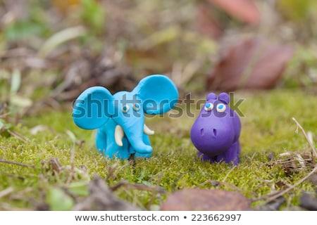 Little clay Hippo Stock photo © ivonnewierink