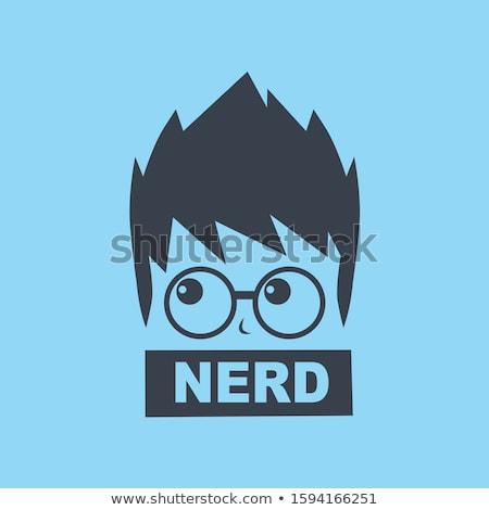 nerd geek guy cartoon character sign logo vector Stock photo © vector1st