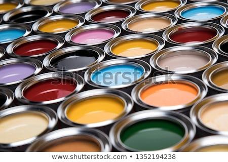 Csoport konzervdoboz fém szín festék munka Stock fotó © JanPietruszka